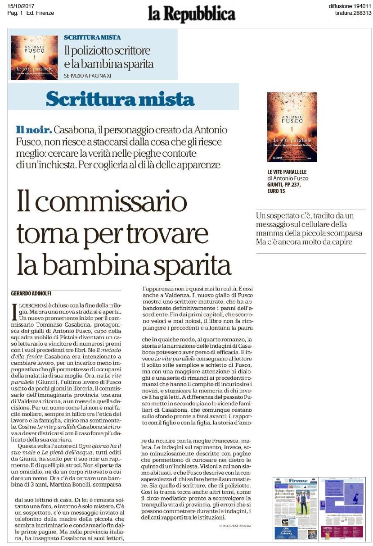 Repubblica 15 ottobre 2017